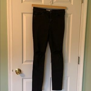 Black denim ripped skinny jeans